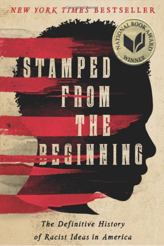 Book Cover - Silhouette of black person behind streaks of red paint
